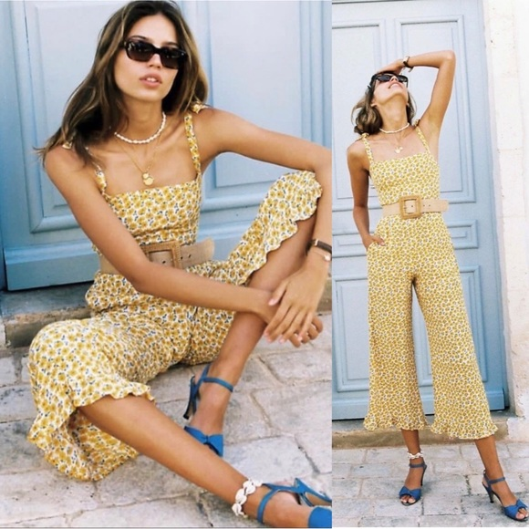 FAITHFULL THE BRAND Frankie Jumpsuit in Floral L